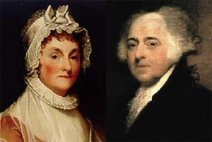 Political John and Abigail Adams, image